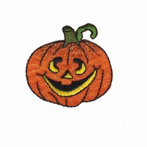 Jack-o-lantern patch applique
