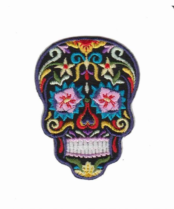 Sugar Skull Dia De Los Muertos Iron on Patch Applique