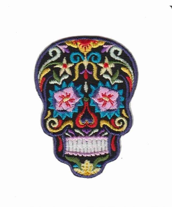 Sugar Skull Dia De Los Muertos Iron on Patch Applique