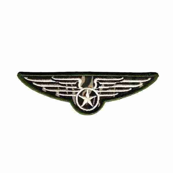 Military Wings Camo Iron on Patch