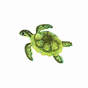 Realistic Green Sea Turtle Iron on Applique