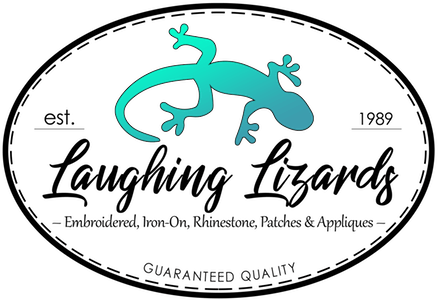 Laughing Lizards - Embroidered, Iron-On, Rhinestone, Patches & Appliques