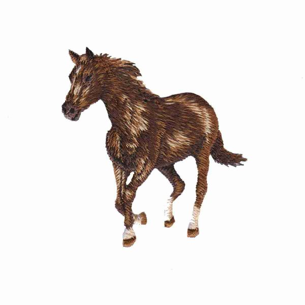Realistic Embroidered Horse Patch