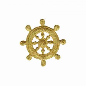 Gold Ship's Wheel