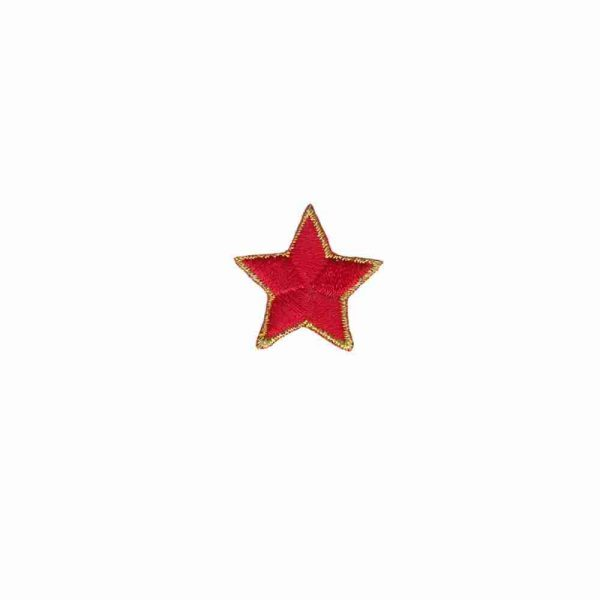 Red Star Patches 7/8 inch