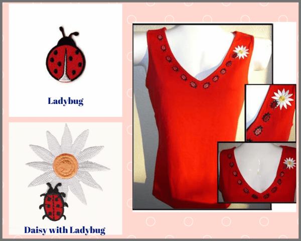 Ladybug Iron-on Patches