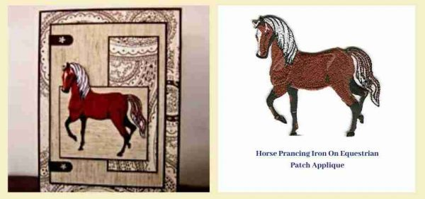 Iron-on Horse Patch Greeting Card