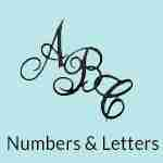 Letter Patches Embroidered Appliques