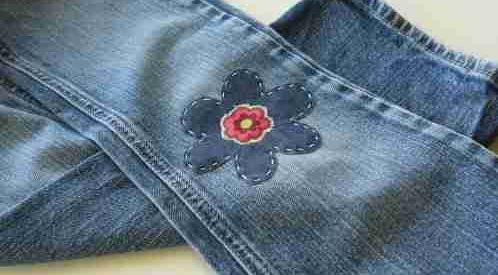 Patches on a Jeans Knee Hole