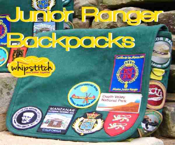 JuniorRanger Backpacks with Patches and Pins