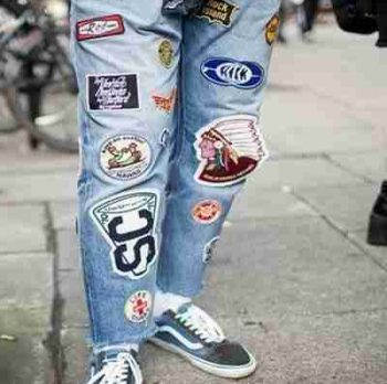 patched denim for men