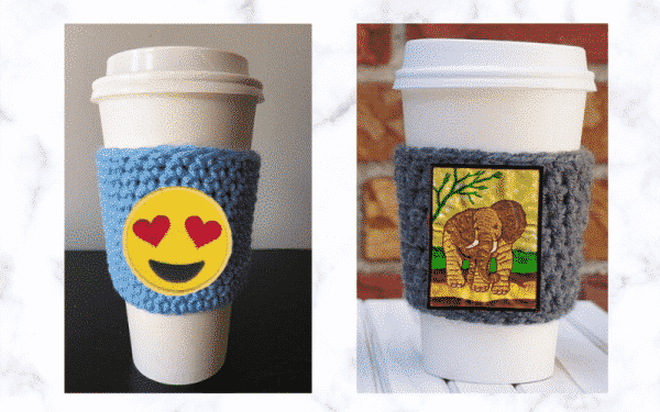 Patched Coffee Cup Sweater
