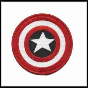 Captain America Shield Logo Iron on or Sew on Patch Applique