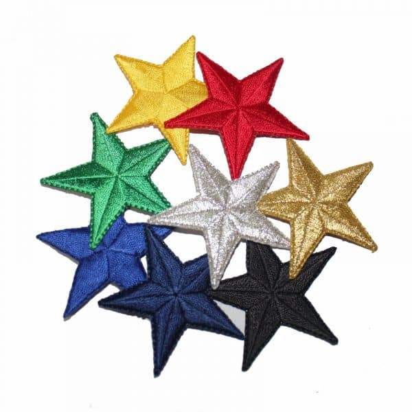 2 Inch Iron on Star Patches – 9 Colors!