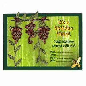 DIY Monkey Birthday Invitation Card