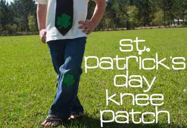 St. Patrick's Day knee Patch