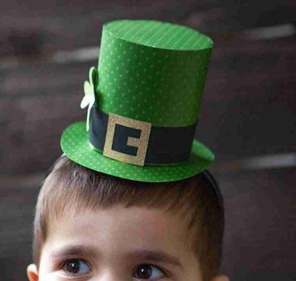 St Patrick's Day Paper Hat DIY