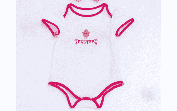 Easter Patched Baby Onesie