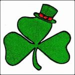 Three Leaf Clover Iron On Shamrock Patch Applique