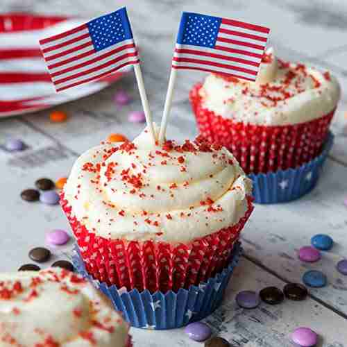US flag cake toppers