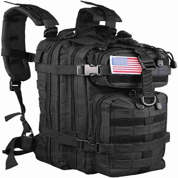 US Flag Patched Backpack