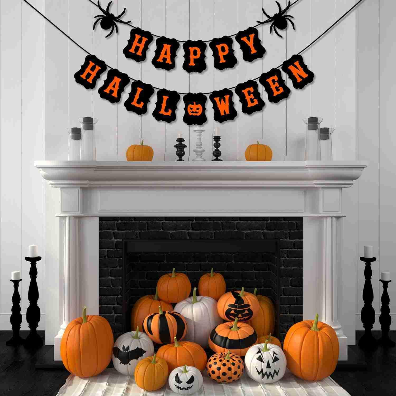 Happy Halloween House Decor