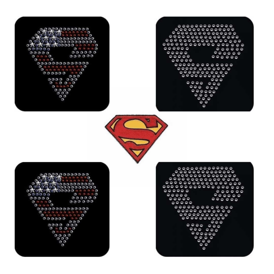 Superman Iron On Patches