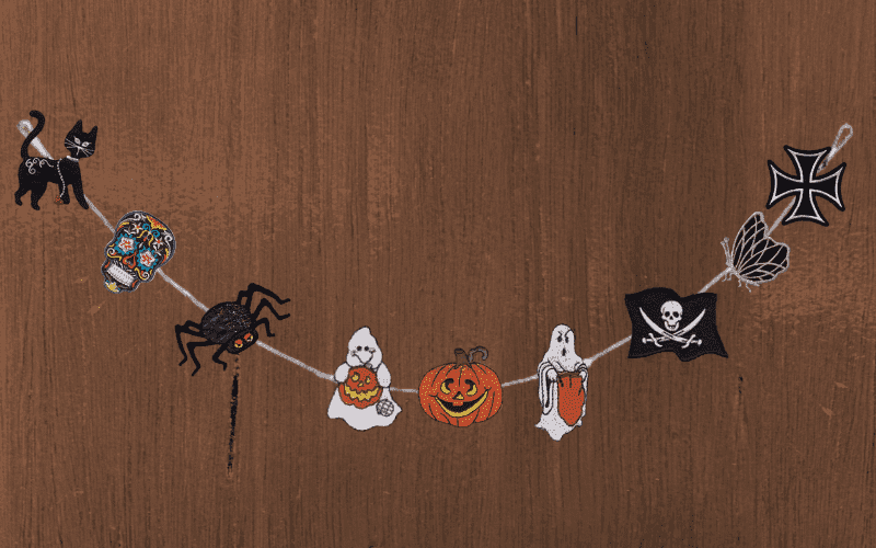 DIY Patch Halloween Garland