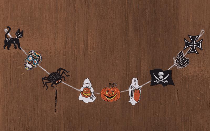DIY Patch Halloween Garland