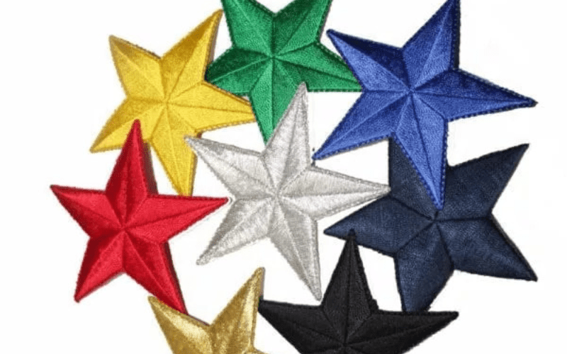 Embroidered Star Patches