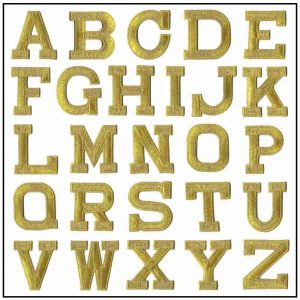 Iron On Letter Patches, 2″ Block Letters