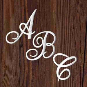 Iron On Script Letter Patches, Monogram Appliques