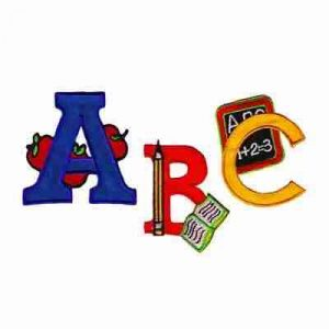 "Letters for Education ""A, B or C"" Patches"