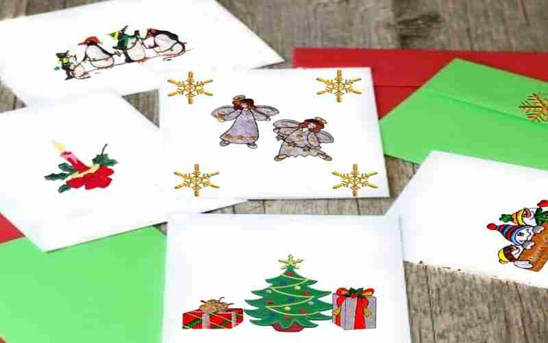 DIY Patched Christmas Greeting Card