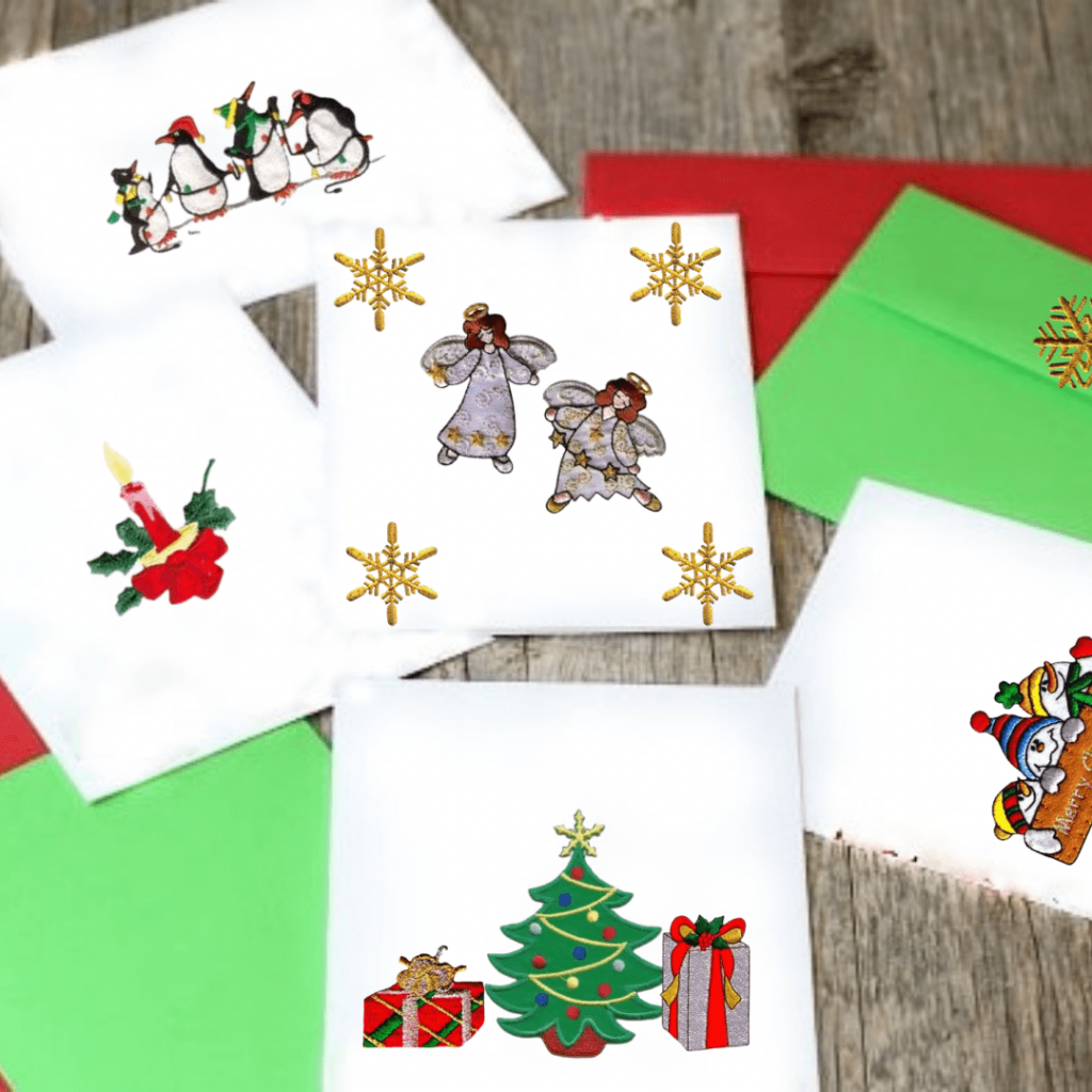 DIY Patched Christmas Cards