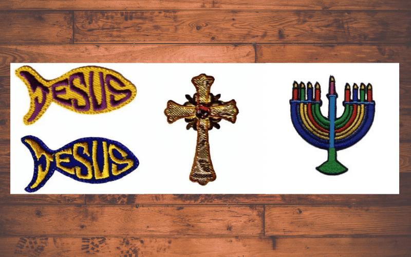 Religious Iron on Patches
