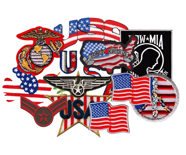 Laughing Lizard Patriotic Patches