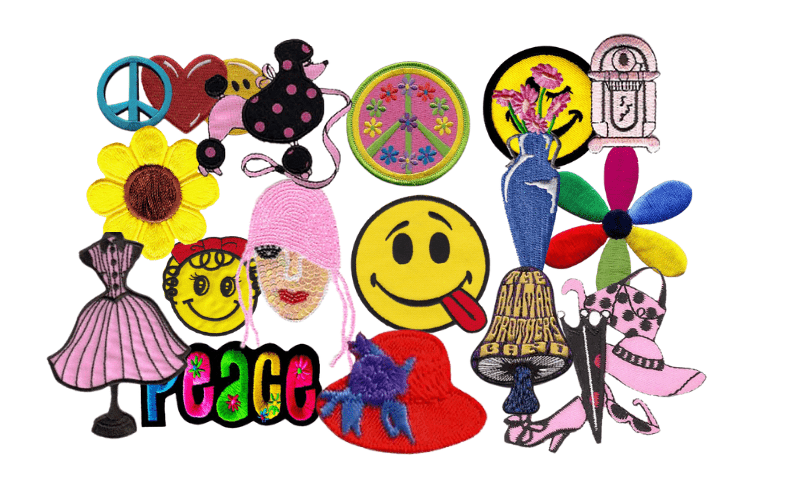 1950s and 1960s Embroidered Patches