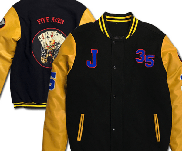Jacket With Embroidered Patches