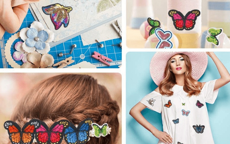 Embroidered Butterfly Patches